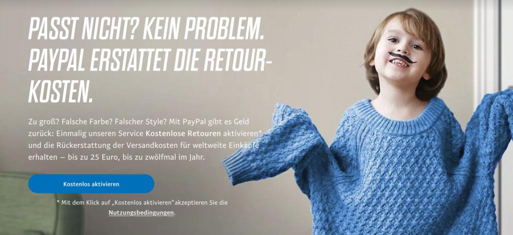 PayPal Rücksendekosten